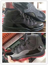 Commercio all'ingrosso 11 XI nero rosso uomini alti scarpe da basket scarpe sportive sneakers outdoor buona qualità a buon mercato sconto formato 7-13 da