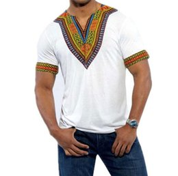 Wholesale Traditional Fashion Clothes - Africa Clothing 2017 African Dashiki Traditional Maxi Man Shirt Shirt Maxi T Shirt Summer Man Clothes Men T-shirt