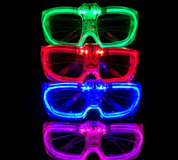 Wholesale Rave Halloween Costumes - Flashing Party LED Light Glasses for Party Birthday Funny Tricky fluorescent luminous Rave Costume Party DJ Bright c532