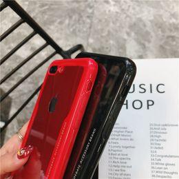 Pasta clara on-line-2018 prevalente para iphone maleta tpu + acrílico phone case claro macio borda tampa traseira clara para iphone 8 plus case