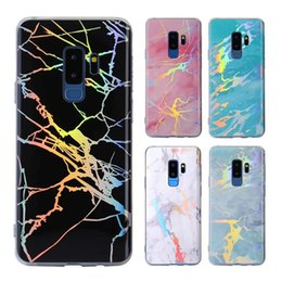 Wholesale Lasers Wholesale - Soft TPU Bling Laser Marble Design Case Cover Sparkling Felxible Defender Cases For iPhone X 8 7 6 6S Plus Samsung S8 S9 Plus Note 8 S7 edge