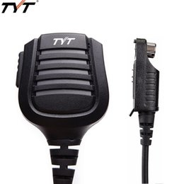 2019 alto-falantes md TYT MD-2017 PTT impermeável Ombro Speaker Mic para o rádio TYT MD-2017 MD-398 Retevis RT82 Radioddity GD-55 DMR Digital alto-falantes md barato