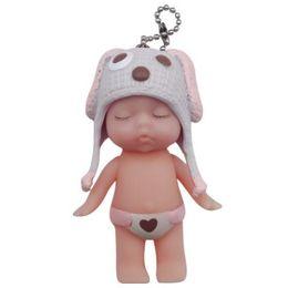 Bonnet détachable bébé endormi KEYCHAIN KEYRING Vivid mignon mariage pratique cadeau de Noël Porte-clés porte-clés classique sac décoration ? partir de fabricateur