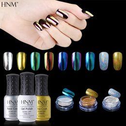 Wholesale Black Glitter Gel Nail Polish - HNM 1pcs Black Nail Gel 1 Set Top Coat Base Coat 3pcs Nail Glitter Dip Powder Set Gelpolish Gel Lak Art