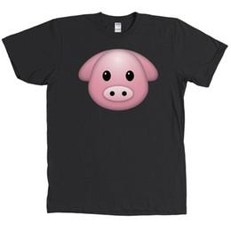 T-shirts emoji gesichter online-Schwein Gesicht Emoji Charakter Shirt lustige T-Shirt 2018 neue Männer T-Shirt Top-T-Shirt