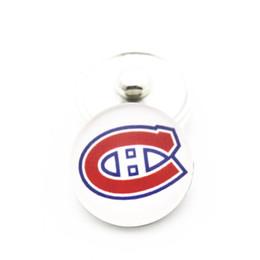нхл канадиенс Скидка Новое прибытие 10 шт. / лот NHL Montrealon Канадиенс команда хоккей спорт 18 мм стекло Оснастки кнопка Fit Оснастки браслет ювелирных изделий