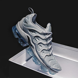 Wholesale Metallic Packing - 2018 New Vapormax TN Plus Olive In Metallic White Silver Colorways Shoes Men Shoes For Running Male Shoe Pack Triple Black Mens Shoes
