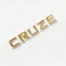Wholesale Gold Chrome Sticker - 3D Chrome Glassy Sliver Gold For Cheverolet Cruze T Turbo Logo Badge Brand Rear Tail Trunk Emblem Sticker Decal
