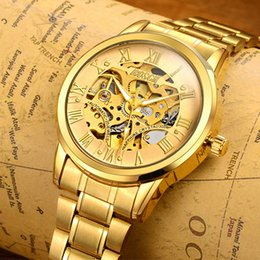 343bb6a03f1d BOSCK Automático Relojes Mecánicos Hombres Marca de Lujo Caja de Oro de  Acero Inoxidable Esqueleto Reloj Hodinky Reloj Hombre