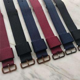 браслеты zulu Скидка Высокое качество мужские часы ремешок 20 мм розовое золото пряжка нейлон ремешок для DW смотреть