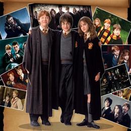 2019 ropa de uniforme Nuevo Harry Potter Robe Cosplay Traje Niños Adultos Unisex Gryffindor uniforme escolar Slytherin Hufflepuff Ravenclaw I436 ropa de uniforme baratos