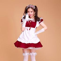 Конфеты цвет горничной наряды Лолита платье мультфильм костюм косплей принцесса милый стиль Лолита девушки платье костюмы с плюс размер S-2XL от Поставщики настоящий красный павлин