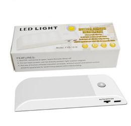 Luci notturne LED PIR Sensore di movimento Luce LED ricaricabile senza fili Lampara con magnete per armadio Armadio caldo bianco freddo da f1 luce fornitori