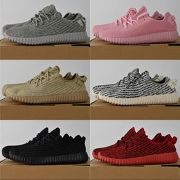 Wholesale Oxfords Black - 2018 Boost 350 Running Shoes kanye west black turtle dove moonrock oxford Tan Boots Top Quality Lightweight Spiy 350 Sneakers
