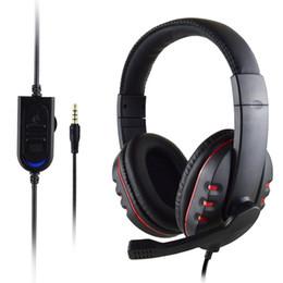 черный окружают Скидка Черная игровая гарнитура Mic Stereo Surround Headphone 3,5 мм для проводного ПК для ПК PS4 Xbox