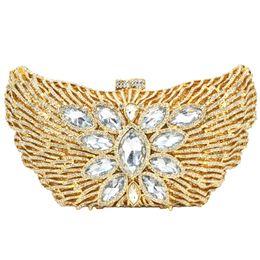 Bella borsa da sera di lusso con strass borchiati borsa di diamanti all'ingrosso borsa da donna pochette da sposa della borsa nuziale 88179 da