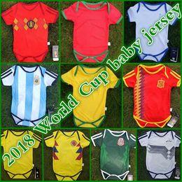 Wholesale Football Jerseys Babies - Spain baby Soccer Jerseys 2018 world cup national team Brazil kids Soccer Jersey Portugues Mexico Belgium Argentina children football shirt