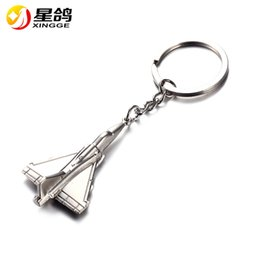 Wholesale Plane Keyrings - New Arrived Air Plane Keychain Metal Alloy Airplane Key chain Keyring Gift For Men Women Wholesale