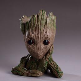 Guardians of The Galaxy 15cm Baby Groot Figure Flowerpot Toy Flower Pen Pot Xmas Gift 10pcs OOA5087