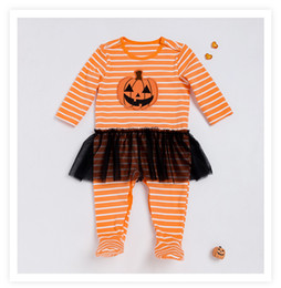 9028c021ae8 clothing for twins Canada - DHL Halloween Pumpkin Baby Rompers Cotton Warm  Newborn Twins Clothes Fall