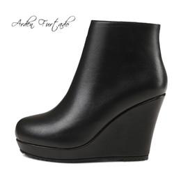 Shop Ladies Genuine Leather Wedge Heel Boots Uk Ladies Genuine