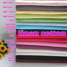 """Deco di cotone online-Tessuto misto cotone lino Tessuto in cotone di lino Applique per decorazione casa Deco Colori solidi 54 """"Largo venduto dal cantiere"""