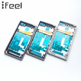 Wholesale housing xperia - New Front Middle Frame Bezel Plate Chassis Housing For Sony Xperia Z1 L39h C6903 Black White Purple