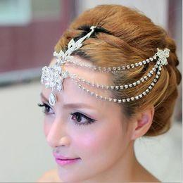 Heißer Verkauf Luxus Quasten Braut Stirn Dekoration 2019 Braut Kopfschmuck Krone für Hochzeit Frauen Zubehör von Fabrikanten
