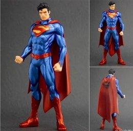 Wholesale Superman Action - ARTFX + STATUE DC Super Hero Superman 1 10 Scale Pre-Painted PVC Action Figure Collectible Model Toy 20cm