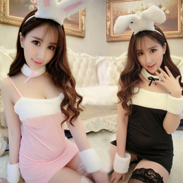 Wholesale breast sm - Hot Sexy Lingerie Porn Women Transparent Lace Sexy Costumes Sm Cosplay Rabbit Un