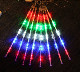 enseigne au néon des beatles Promotion Lanterne de Noël en plein air 50cm.30cm 8pcs / set météore douche LED Lantern String cascade de néon lumières colorées pop lumières décoratives