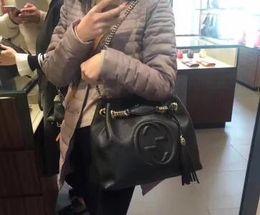 2019 bolsa de ombro de prata metálica 2018NEW Couro Clássico preto corrente de prata de ouro Frete grátis TOP venda quente sacos de varejo por atacado bolsas sacos de ombro sacolas # 78787