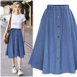 estilos coreanos de la falda larga de la mujer Rebajas 2018 Moda de Corea  del Preppy 02c82b78e551