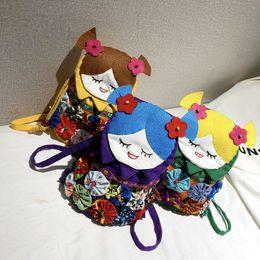 una borsa dello zaino della spalla Sconti Borsette per bambini Moda Novità Autunno Inverno Bambina Mini Principessa Borse a tracolla Una borsa a tracolla Ragazze adolescenti Cartoni animati Borse per il tempo libero