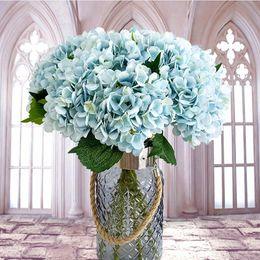 Flores artificiales barato Seda hortensia Novia ramo de la boda inicio año nuevo accesorios de decoración para el arreglo floral florero desde fabricantes