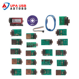 Wholesale Upa Usb Programmer - Hot Sell UPA-USB UPAUSB UPA USB Programmer With Full Adaptors V1.3 ECU Chip Tunning OBD2 Diagnostic Tool Free Shipping