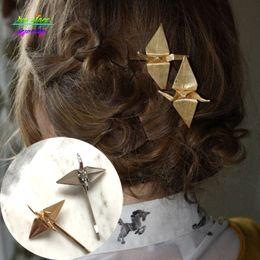 2016 New Chic Ouro / Rosa de Ouro Artesanato Guindaste Bobby Pin Nupcial Acessórios Para o Cabelo de Casamento Do Vintage Acessórios Para o Cabelo Jóias Cabelo de Fornecedores de pinos bobby casamento