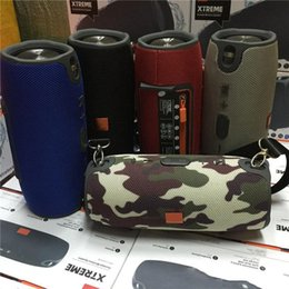 Wholesale Cheap Buttons Wholesale - Mini Xtreme Speaker Big Cheap Bluetooth Wireless Speakers Outdoor Subwoofer Waterproof Speaker with Straps Stereo Portable Music MP3 Player