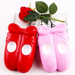 Scarpe kawaii online-Squishy Kawaii Ballet Shoes Hand Squeeze Vent Giocattolo Squishies Decompression Toys For Children Regalo Multi Color 10 5sq CRW