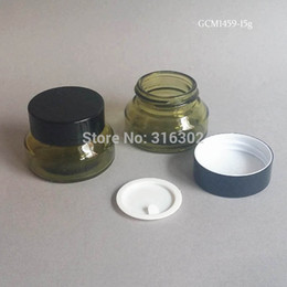 bocaux cosmétiques en verre vert Promotion 200pcs / lot 15G Verre Verre Maquillage Vert Avec Couvercle Noir 15G Verre Emballage Cosmétique 15G Verre Crème Bocal
