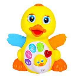 2019 giostre gialle L'ultimo movimento elettrico Will Swing Dancing Singing Yellow Duck Fancy Nappy Piccoli giocattoli Unisex Electronic Plastic Sounding giostre gialle economici