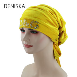 red head girl Canada - Winter Women Muslim Turban Hat Knitted Female Velvet Hair  Head Scarf eba52a8a7509