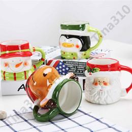 Tazza di ceramica animale di tema del fumetto Tema di Natale 3D creativo tazza caffè resistente al calore Tumbler per i bambini regalo 110pcs T1I955 da