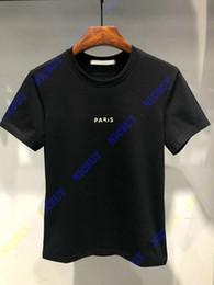 Argentina La mejor versión diseñador de moda marca de lujo ropa de verano camiseta para hombres paris letra camiseta de impresión rota camiseta ocasional camiseta superior Suministro