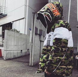 Argentina BAPE Adidas Nuevas Chaquetas Parka Hombres Venta Caliente Calidad Otoño Invierno Cálido Outwear Marca Slim Abrigos Para Hombre Chaquetas Casuales Cortavientos Hombres M-XXL cheap mens winter jackets xxl Suministro
