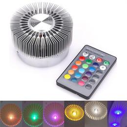 AC85-265V 3 W Led Duvar Lambası Alüminyum Yüksek Güç LED Chip RGB Işık KTV Bar Restoran Kahve Dükkanı için Uzaktan Kumanda ile cheap remote control chips nereden uzaktan kumandalı cips tedarikçiler