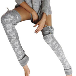 Wholesale Thick Thigh High Socks - women high quality cotton stockings sexy thigh high over the knee socks for woman thick warm long socks#LREW