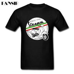 Wholesale Group Shirts - Print Shirts Men Boy 100% Cotton Short Sleeve Vespa Vintage Italy Group Clothing Men T Shirts