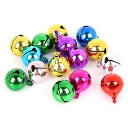 Wholesale christmas bell crafts - 12MM 25pcs Silver Golden Mix Color Copper Jingle Bells Loose Beads Pendants Party Christmas Supplies Gift DIY Craft Accessories