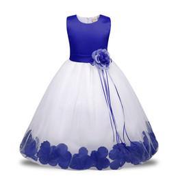 Vestidos de noche para niños online-Bebé niña de las flores trajes para niños para los niños del partido princesa vestidos de novia ropa de las muchachas para la muchacha adolescente vestido de noche